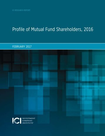Profile of Mutual Fund Shareholders 2016