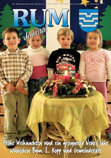 Rum-Journal 2005/4 (4,7 MB) - Marktgemeinde Rum