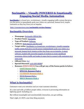Socimattic Review-(GIANT) bonus & discount