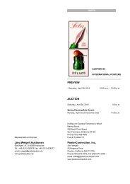 Jörg Weigelt Auktionen PREVIEW AUCTION PosterConnection, Inc.