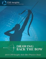 2016 CSO Insights Sales Best Practice Study Drawing Back the Bow