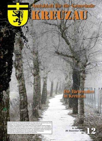 Amtsblatt Nr. 12/2009 vom 29.12.2009 - Gemeinde Kreuzau