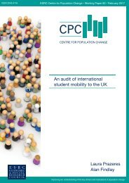 An audit of international student mobility to the UK