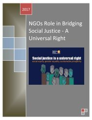 NGOs Role in Bridging Social Justice