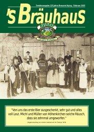 Sonderausgabe 125 Jahre Brauerei Aying · Februar 2003 - Ayinger