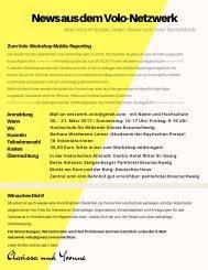 Suche und News zum Workshop
