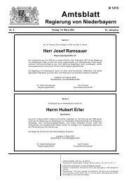 Herr Josef Ramsauer - Die Regierung von Niederbayern