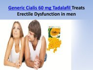 Buy Cialis 60 mg generic Tadalafil Online @ BestGenericDrug24 Pharmacy in USA UK