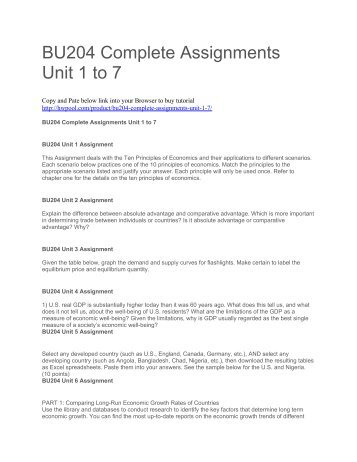 bu204 unit 2 2) what is an intermediate good  home  bu 204 bu/204 bu204 unit 4 assignment bu 204 bu/204 bu204 unit 4 assignment $1299 add to cart 1) us real.