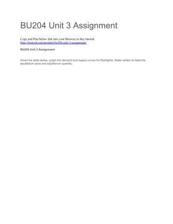 BU204 Unit 3 Assignment