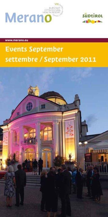 Events September settembre / September 2011 - Eventi e Sagre