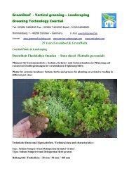 Datenblatt Data sheet Sedum Flachballen Stauden Flatballs perennials