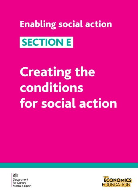 Creating the conditions for social action