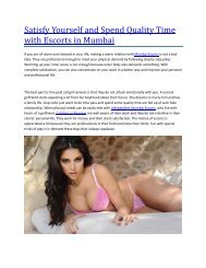 The Soniya Verma Mumbai Escorts Model in Mumbai Escorts