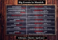 Big Events in Munich: February / March / April 2017