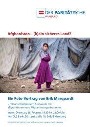 Afghanistan - (k)ein sicheres Land? Ein Foto-Vortrag von Erik Marquardt