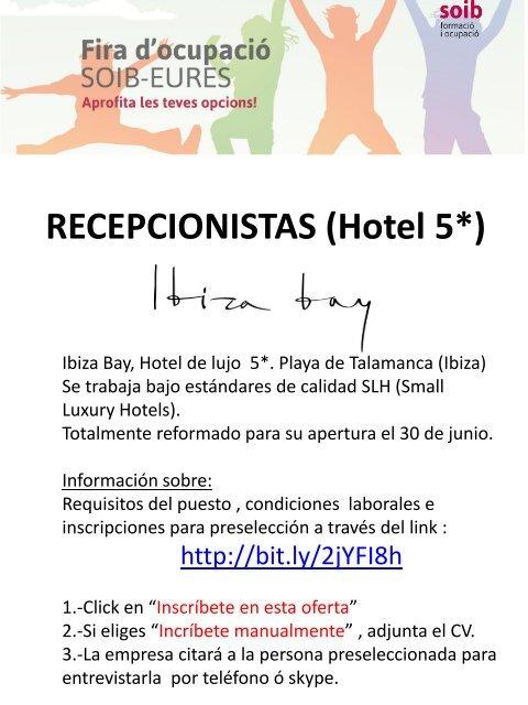 RECEPCIONISTAS (Hotel 5*)