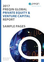2017 PREQIN GLOBAL PRIVATE EQUITY & VENTURE CAPITAL REPORT SAMPLE PAGES