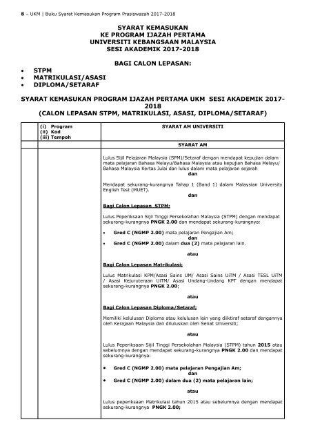 Stpm Matrik Asasi Diploma Setaraf2017 2018
