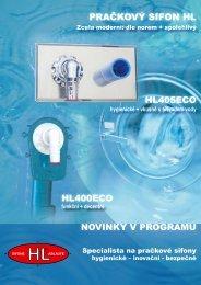 hygienické + vkusné s přívodem vody - HL Hutterer & Lechner GmbH