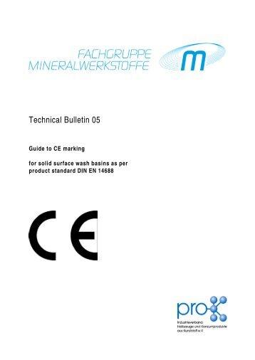 Produktdatenblatt Mineralwerkstoffe English Jan 09 Pro K