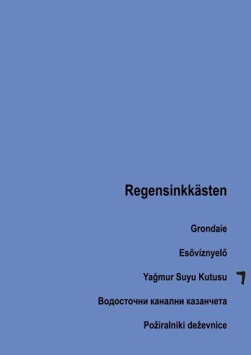 Regensinkkästen - Hutterer-Lechner