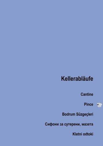 Kellerabläufe - Hutterer-Lechner