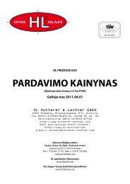PARDAVIMO KAINYNAS