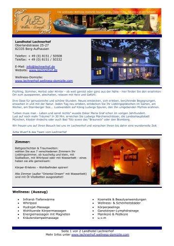 druckbares Prospekt als PDF - Landhotel Lechnerhof - Wellness ...