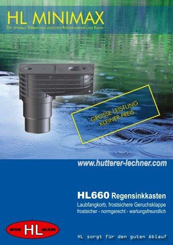 Regensinkkasten - Hutterer-Lechner