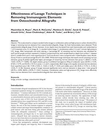 Longterm osteochondral material highpressure highpressure