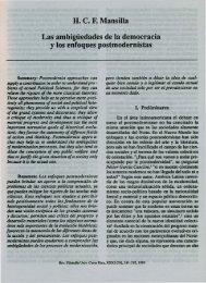 Las ambigüedades de la democracia y - Instituto de Investigaciones ...