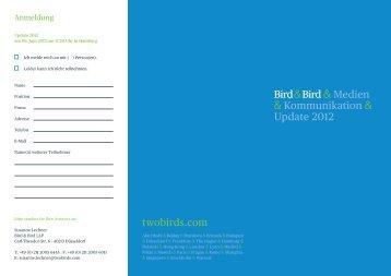 finden Sie hier - Bird & Bird
