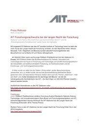 Press Release AIT Forschungsnachwuchs bei der langen Nacht der ...
