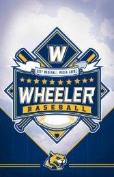 2017 Wheeler Baseball Media Guide