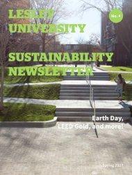 Spring 2017 Sustainability Newsletter