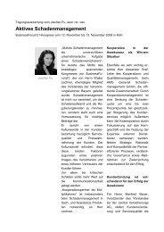 Aktives Schadenmanagement - Businessforum21