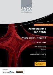 Jahrestagung der AVCO - Austrian Private Equity and Venture ...