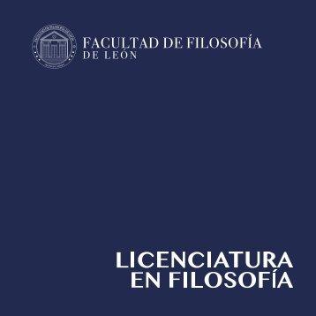 Brochure Licenciatura en filosofía