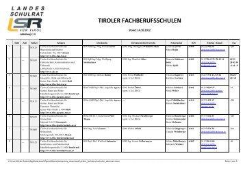 Tiroler Fachberufsschulen
