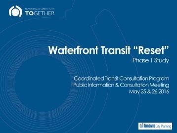 """Waterfront Transit """"Reset"""""""