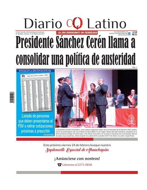 Edición 17 de Febrero de 2017
