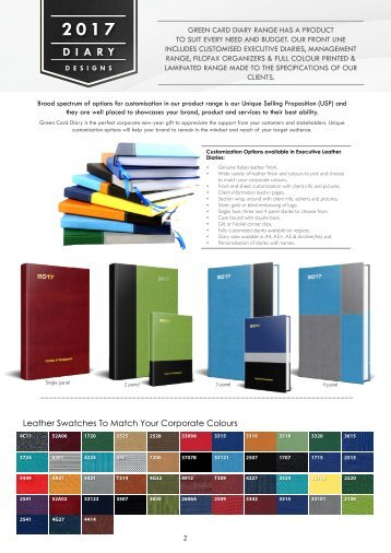 Diary and calender catalogue