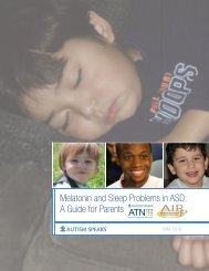 Melatonin and Sleep Problems in ASD A Guide for Parents