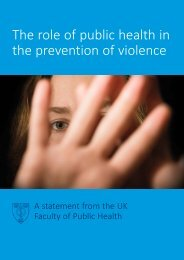 The role of public health in the prevention of violence