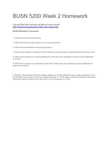 BUSN 5200 Week 1 to 8 Quizzes