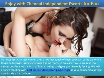Hot Offer of Chennai Independent Escorts