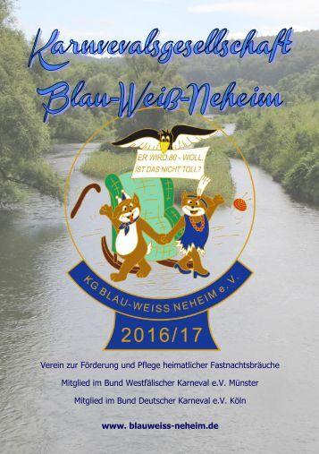 Karnevalsgesellschaft Blau-Weiß-Neheim 2016/2017