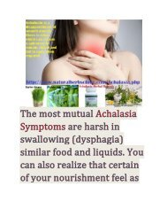 Symptoms and Management of Achalasia Infection