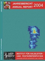 Annual Report 2004 - Institut für Halbleiter - JKU